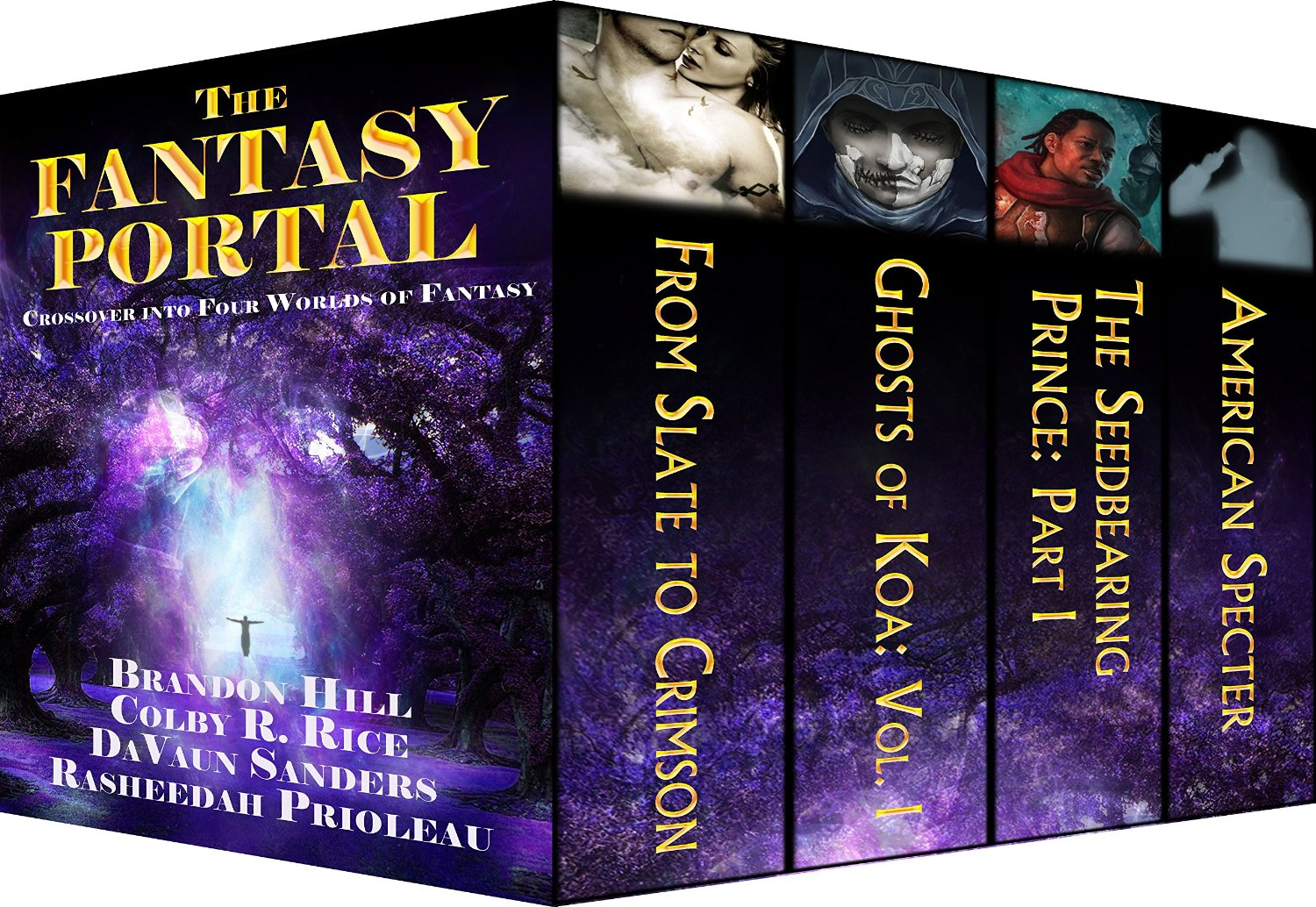 Four Kick-ass Authors, Four Worlds of Wonder. Enter The Fantasy Portal!